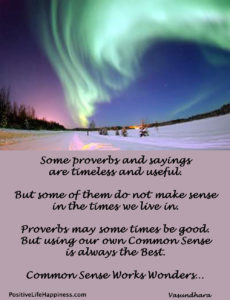 Common Sense Works Wonders