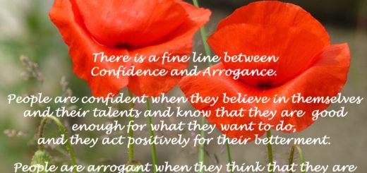 Confidence Vs. Arrogance
