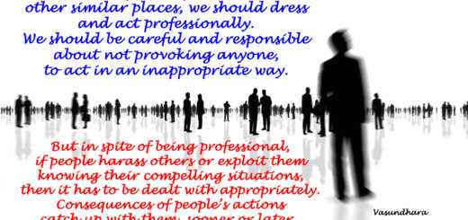 We should dress and act responsibly