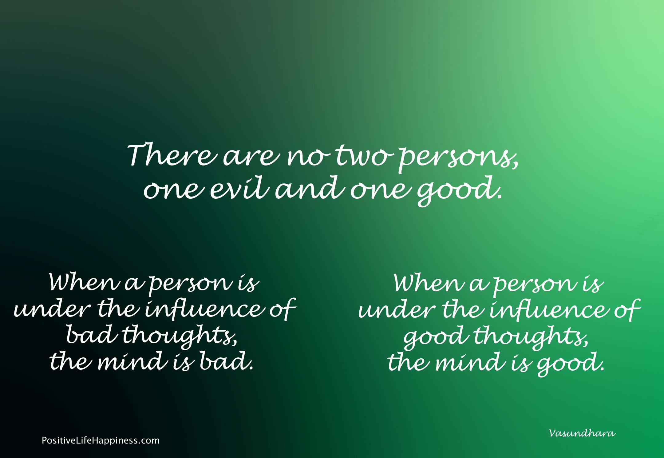 Good or bad mind