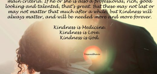 Kindness is the criteria