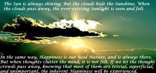 Let the clouds pass, Sunlight will shine