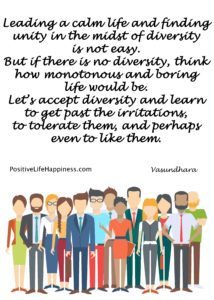 Life monotonous without diversity