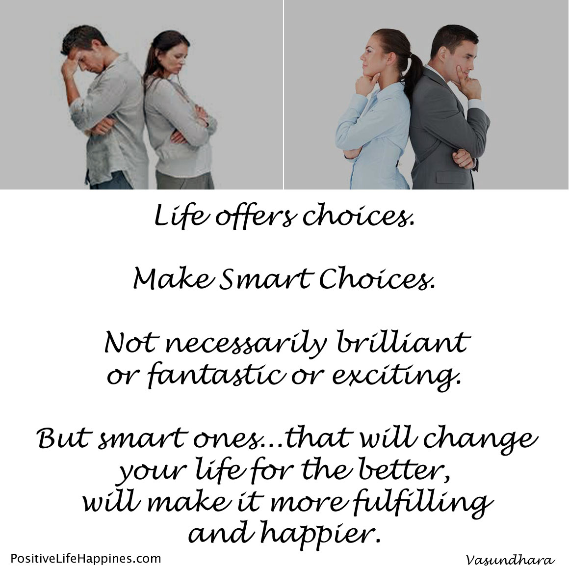Make smart choices