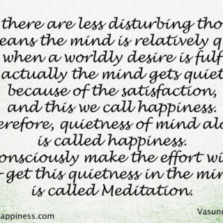 Meditation helps to gain focus and happiness