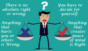 No absolute right or wrong