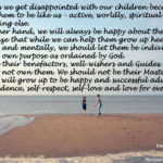 Let children grow as confident individuals