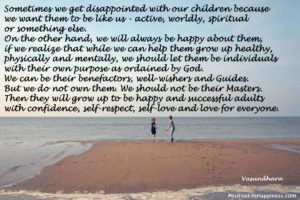 Let children grow as confident individuals