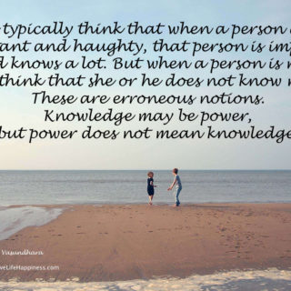Power is not knowledge
