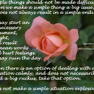 Simple things should not be made difficult