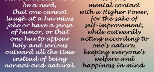 Spiritual person is not a nerd