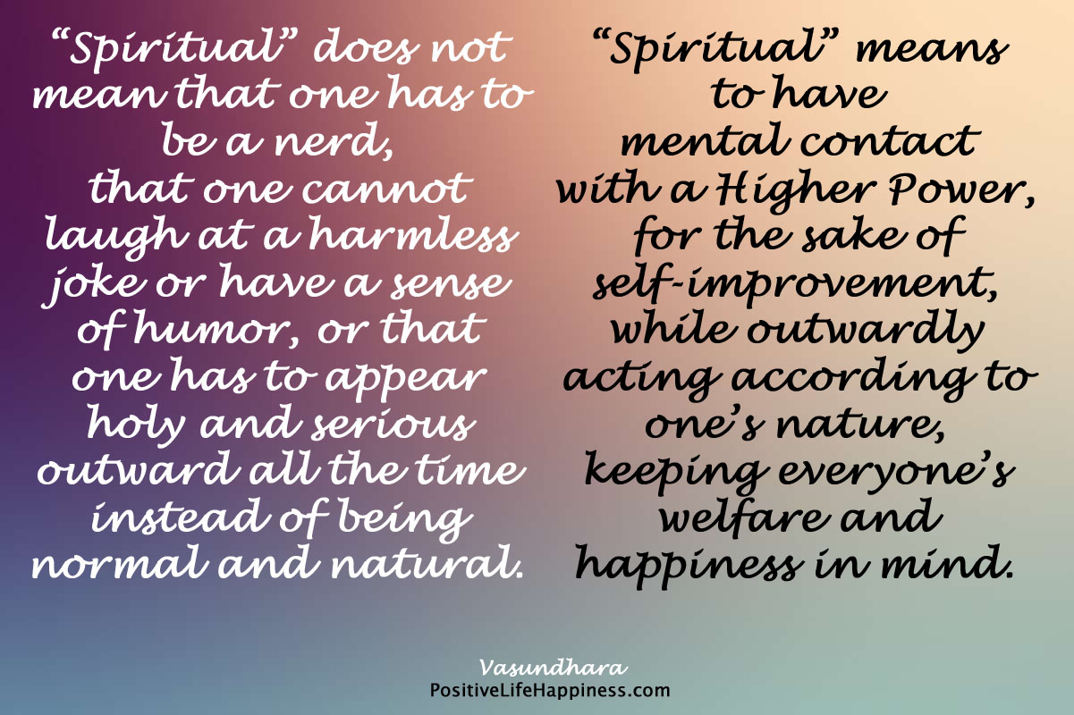 Spiritual person is not a nerd